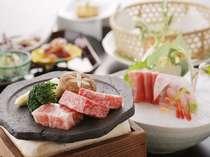 【夕食の一例】新鮮な驚きと感動を、味覚・聴覚・臭覚いっぱいに心ゆくまでご堪能下さい。