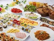 【朝食】洋食派も和食派も大満足!スイーツまで種類豊富な朝食バイキング♪