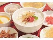 朝食(中華粥)