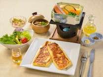 朝食 軽井沢産はちみつのついたフレンチトーストコース