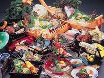 (2)旬の伊勢えびとあわびの大漁御膳