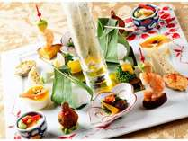 祥月オリジナルのフルコースディナーは和食ベースの創作料理(料理一例)