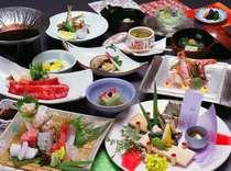 4-6月 選べる松竹梅の会席プラン [松プラン]春告げ鮮魚7種盛りと和牛ステーキ付