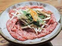 *【お料理】夕食 牛肉の陶板焼き