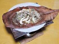 *【お料理】朝食一例★飛騨名物の朴葉味噌