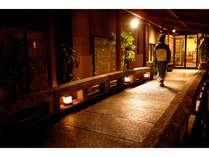 玄関までの石畳(夜)の画像