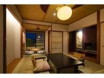 2階客室(露天風呂付・和室)撮影:下村 康典の画像