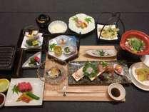 贅沢夏の会席料理の画像