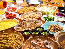 """◆朝食バイキング◆約30品目の和洋食バイキングに朝から""""ワクワク""""がとまらない♪"""