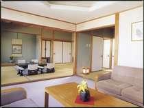 和室12畳、次の間6畳、リビング付のたっぷりとした広さの特別室