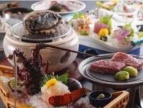 伊勢海老、あわび、松阪牛など伊勢志摩ブランド食材が勢ぞろい