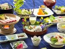 【人気のご夕食~旬彩和膳~】季節の食材と山形の味覚を彩り豊かに取り入れた創作和膳