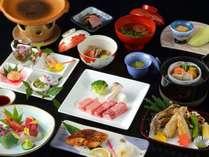 【カジュアルプラン例】蔵王牛と庄内豚の陶板焼きをメインとした「旬彩和膳(10品)」