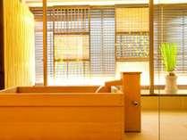 全8室中6室が炭酸泉の出る高野槇風呂。