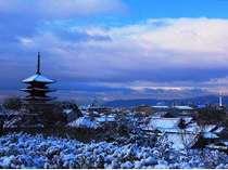 【冬】雪化粧された京都もお楽しみいただける日もございます。