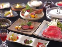 【清龍基本会席】最高級ランクの飛騨牛しゃぶしゃぶと季節のお魚料理をお部屋食で。