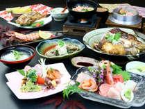 夕食◆「やどかりコース」は海の幸盛りだくさんのスタンダードなコースです