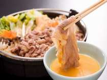 柔らかくて安全な国産牛肉を使用した、ケータリング「すき焼き」です。,長野県,ホテルアンビエント蓼科コテージ