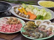 海鮮BBQ♪海鮮4種と国産牛、豚バラ、豚ロース等、バラエティかつ、本格的なBBQを!
