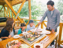 手ぶらでお出で頂いても高原でのBBQをお愉しみ頂けます。,長野県,ホテルアンビエント蓼科コテージ
