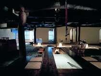 雰囲気の良い食事処『苔庵』。地場の旬素材を活かしたお料理をお召し上がりください。