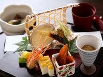支笏湖近隣の食材を、繊細な和のテイストでお楽しみください(イメージ)。