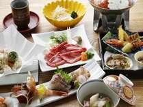 旬の味覚をふんだんに使用した彩り豊かな和食会席(写真はイメージです)。