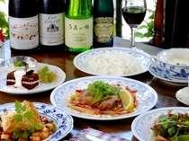 オナー自慢の欧風コース料理。野菜たっぷりのヘルシーコースと美味しいワインはいかがですか?