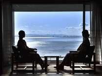 【南館和室】南館客室は全室オーシャンフロント。別府湾一望、開放感バツグン!!