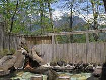 森の中で開放的な奧の湯