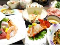 伊勢海老お造り付会席お料理一例 ※季節仕入れにより内容・盛付は変更されます