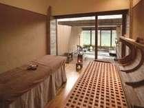 セラピールーム「りふれ」は全室に露天風呂を備える癒しの空間