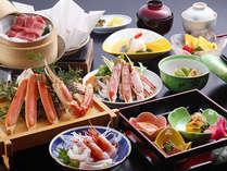 かに付き会席料理(イメージ)