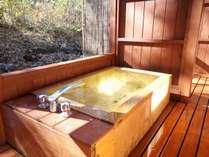 檜の客室露天風呂