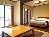 103号室 檜の露天風呂付◇1F和洋室 (20畳以上)ダブル