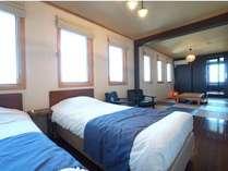 201号室 開放的大窓から相模湾一望◇客室展望風呂付き2F和洋室