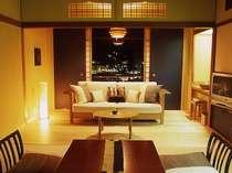 街絶景ランキング1位のお部屋と同じ夜景が楽しめる基準客室10畳+フローリングの一例