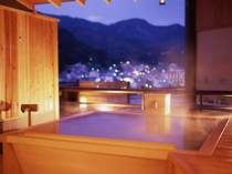 下呂温泉街を望む貸切露天風呂「ひのきの湯」【檜・信楽プランの方優先のお風呂です】