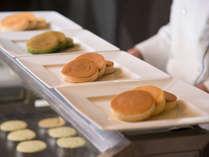 朝食/みんな大好き「パンケーキ」は、シェフズキッチンからお届けいたします♪