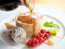 朝食/パンケーキの盛り付け例