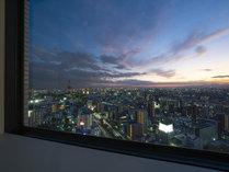 南側客室からの夕景