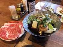 *メインは信州牛のすき焼き♪贅沢な霜降り肉をご賞味ください!