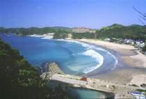 多々戸浜全景高いところから見下ろした写真です。
