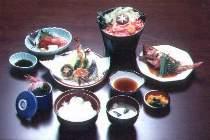 当ホテル自慢のミニ会席料理¥1200(税込)、絶対お値打ち!