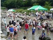 【夏得】夏休み♪大自然と温泉を満喫!川魚つかみ取り&チェックアウト後の入浴券付きプラン