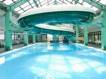 【室内温水プール滞在中無料券付き&お子様全員半額】スライダーもあるよ◇泳ぎ放題!豪快に泳ごうかい!