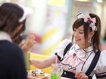【メイドカフェ本格体験チケット付】観光にオススメ♪メイドカフェ体験デラックスROOMプラン