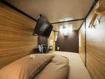 【カプセルルーム】カプセルはシモンズ社製寝具で快適なお休みをお届けします♪