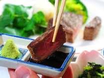 ■~ステーキコース~ わさび醤油に付けて、さっぱりと素材そのものの味を味わってみてください。