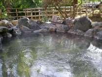 源泉100%かけ流しの露天風呂
